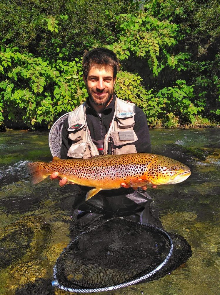 01 David with huge brown trout